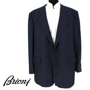 BRIONI Navy Blue Wool Suit Jacket size mens 52 62